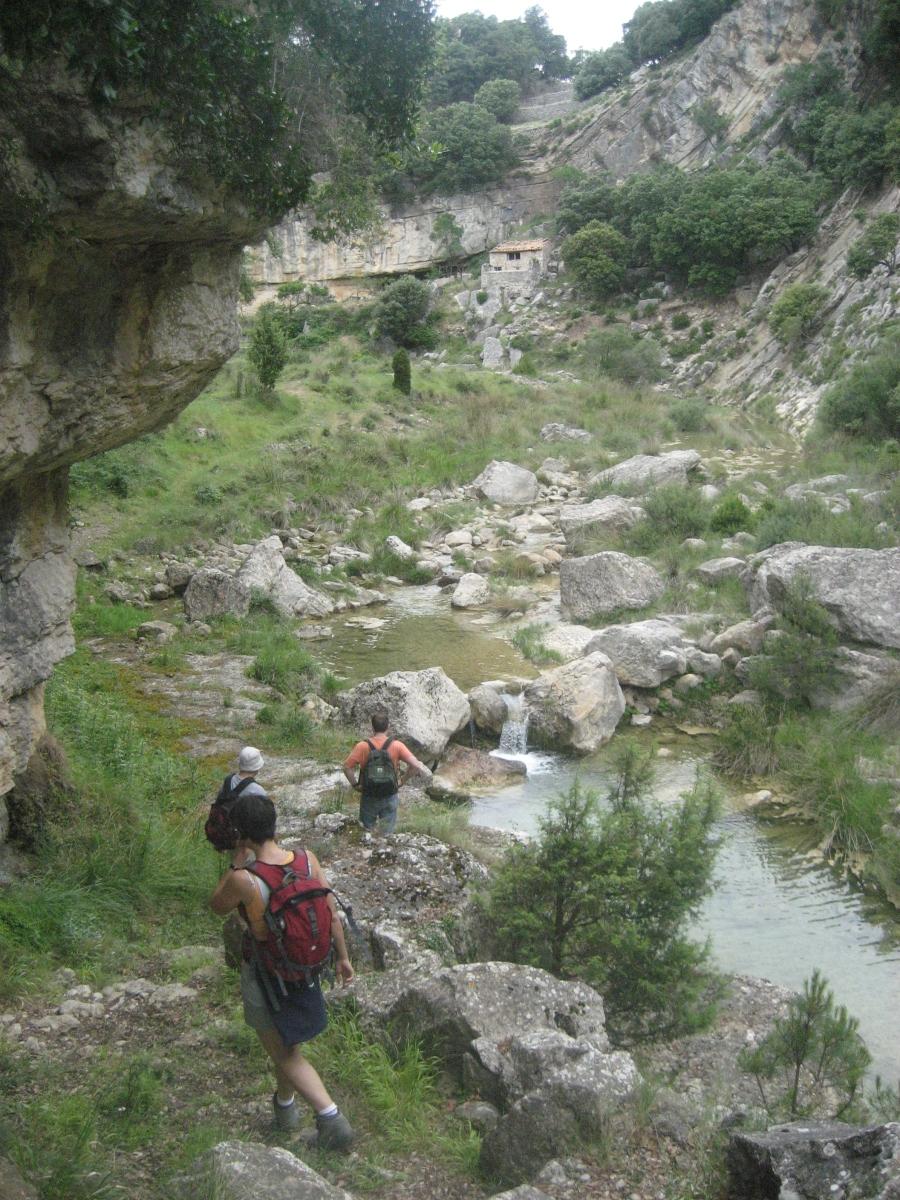 Vallibona - Cañón del río Cervol - Barranco de la Gatellera