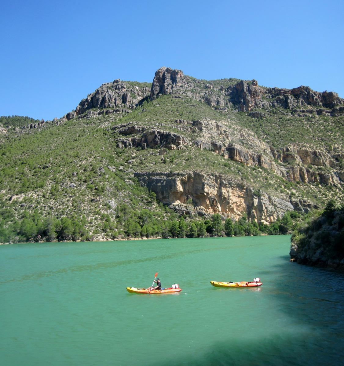 Cortes de Pallás - Ruta en piragua desde Cofrentes por el pantano de Cortes